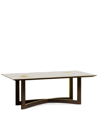 Avalon Gold Dining Table